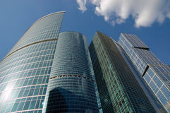 城市莫斯科摩天大楼 图库摄影