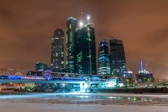 城市莫斯科晚上 库存照片