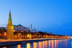 城市莫斯科晚上 免版税库存照片