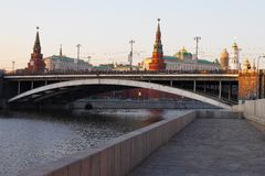 城市莫斯科河 图库摄影