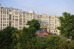 城市莫斯科视图 免版税库存照片