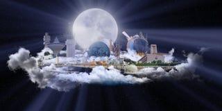 城市著名吉达地标 免版税库存照片
