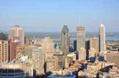 城市蒙特利尔地平线 库存照片