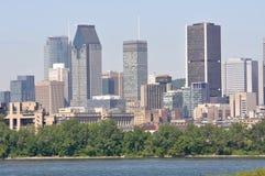 城市蒙特利尔地平线 免版税库存照片