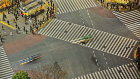 城市行人交通时间间隔东京上面涩谷 股票视频