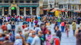 城市行人交通时间间隔布鲁塞尔 影视素材