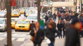 城市行人交通 股票视频
