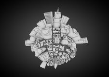 城市行星 免版税库存照片