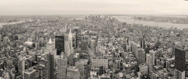 城市街市曼哈顿新的地平线约克 免版税库存照片