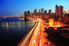 城市街市曼哈顿纽约 库存图片