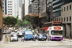 城市街道业务量 图库摄影