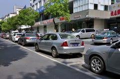 城市街道业务量 免版税库存照片