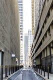 城市街道和skyscrappers 免版税图库摄影