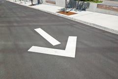 城市街道箭头的方向 库存照片