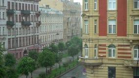 城市街道视图 股票录像