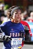 城市表单法国ing马拉松新的赛跑者约&#20811 免版税库存图片