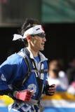 城市表单ing日本马拉松新的赛跑者约&#20811 图库摄影