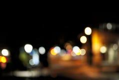 城市被弄脏的光  免版税库存图片