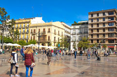 城市西班牙巴伦西亚 库存照片