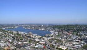 城市西雅图视图 库存照片