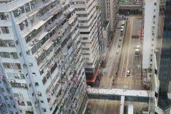 城市观点的轩尼诗道CWB向湾仔 库存照片