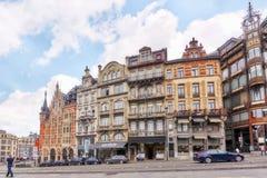 城市观看舒适欧洲城市-布鲁塞尔,比利时 库存照片