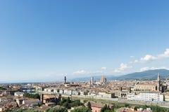 城市视图佛罗伦萨 免版税库存图片