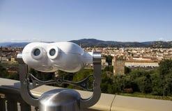 城市视图双眼在米开朗基罗广场有在Th的一个看法 库存照片