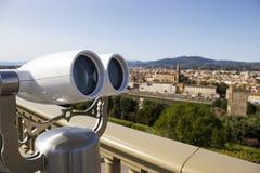 城市视图双眼在米开朗基罗广场有在Th的一个看法 库存图片