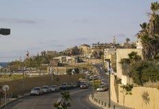 城市视图在Jaffa.Israel老镇  免版税图库摄影