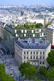 巴黎城市视图  库存照片
