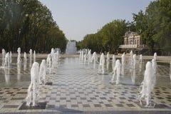 城市视域 fanfan郁金香喷泉 库存图片