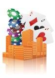 城市赌博娱乐场 免版税库存照片