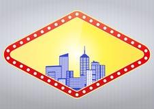城市赌博娱乐场 库存图片