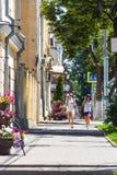 城市边路的看法 免版税库存照片