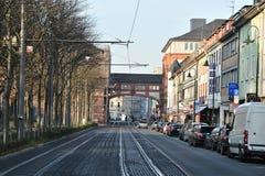城市达姆施塔特地区老德国 库存照片