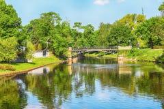 城市运河,里加 库存图片