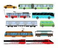 城市运输集合传染媒介例证 免版税库存图片
