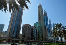 城市迪拜地铁全景 免版税图库摄影