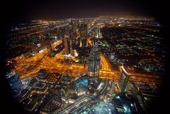 城市迪拜地铁全景 库存图片