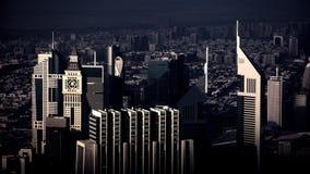 城市迪拜地铁全景 图库摄影