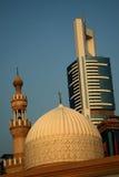 城市迪拜清真寺 库存照片