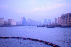 城市迪拜看法  库存图片