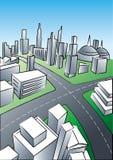 城市透视图 向量例证