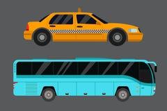 城市道路出租汽车运输传染媒介例证 库存照片