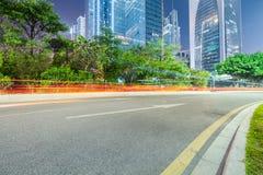 城市道路背景 免版税图库摄影