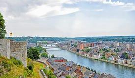 城市那慕尔,比利时 免版税库存图片