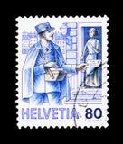 城市邮差大约1900年,岗位交付serie,大约1986年 免版税库存图片
