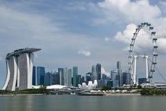 城市都市风景河新加坡 免版税库存图片