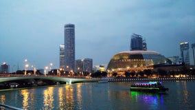 城市都市风景河新加坡 免版税库存照片
